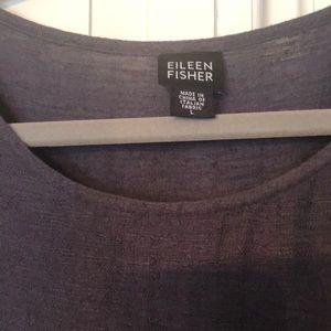 GUC Eileen Fisher dress Linen Cotton blend Slate L